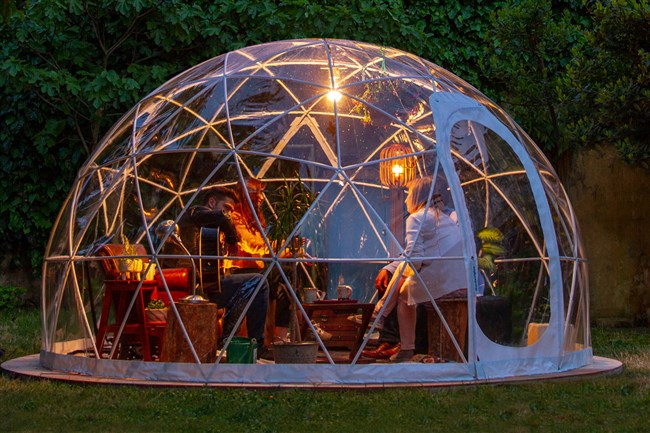 Downtown Pittsburgh's Bridges & Bourbon is expecting to  receive three Gardenigloos sometime in November to set out front on Penn Avenue.