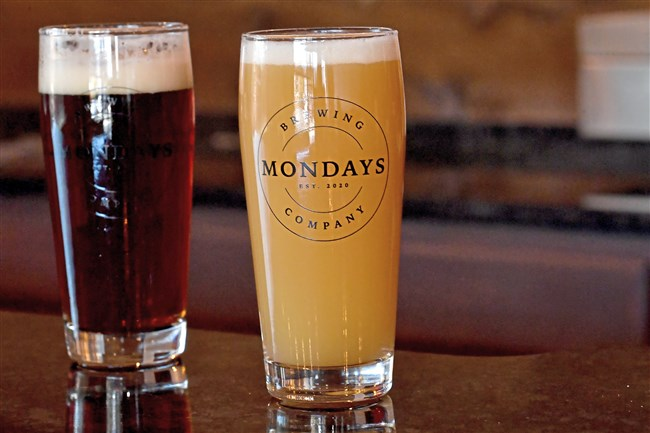 Mondays Brewing Co., which opens Saturday in Peters, will start with a cream ale, a West Coast-style India pale ale, a raspberry sour and, hopefully, a New England-style IPA and the brewery's signature amber ale.